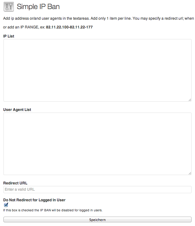 Wordpress Plugin zum IP Adressen sperren