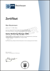 Online Marketing Manager IHK Zertifikat
