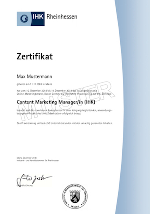 Content Marketing Manager IHK in Mainz