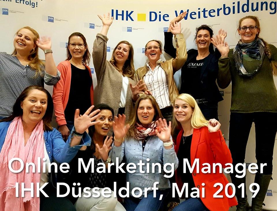 Online Marketing Manager IHK Düsseldorf Mai 2019