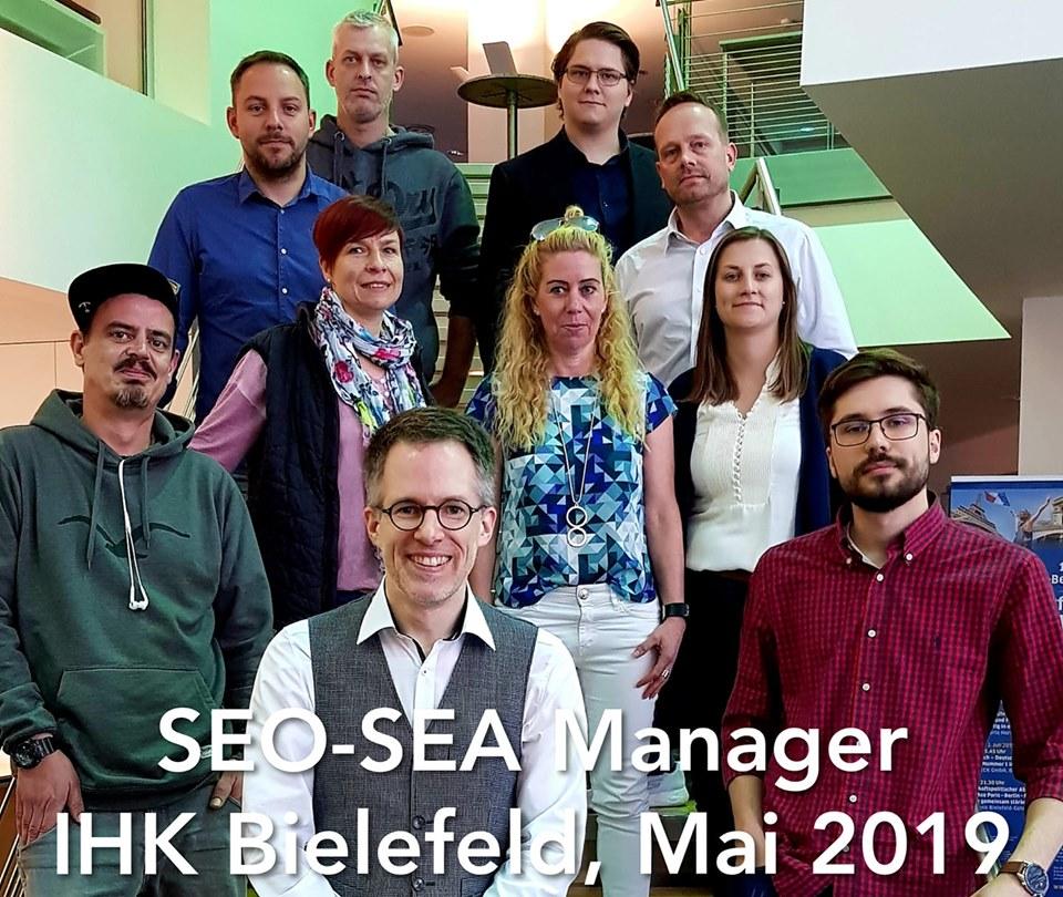 SEO SEA Manager IHK Bielefeld Mai 2019