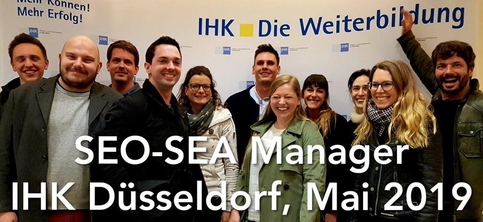 SEO SEA Manager IHK Düsseldorf Mai 2019
